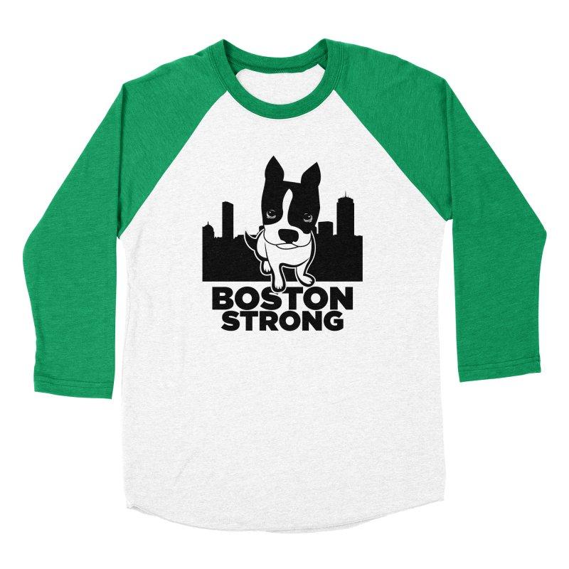 BOSTON (Terrier) STRONG Men's Longsleeve T-Shirt by CBHstudio's Artist Shop