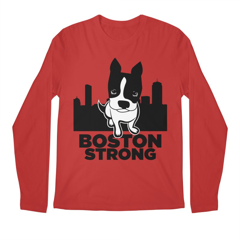 BOSTON (Terrier) STRONG Men's Regular Longsleeve T-Shirt by CBHstudio's Artist Shop