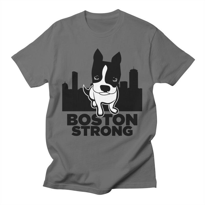 BOSTON (Terrier) STRONG Men's T-Shirt by CBHstudio's Artist Shop
