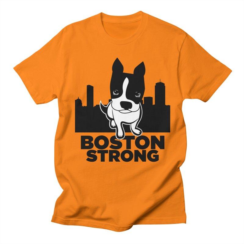 BOSTON (Terrier) STRONG Men's Regular T-Shirt by CBHstudio's Artist Shop