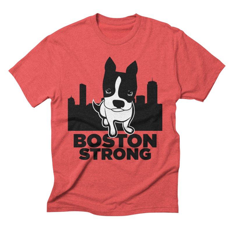 BOSTON (Terrier) STRONG Men's Triblend T-Shirt by CBHstudio's Artist Shop