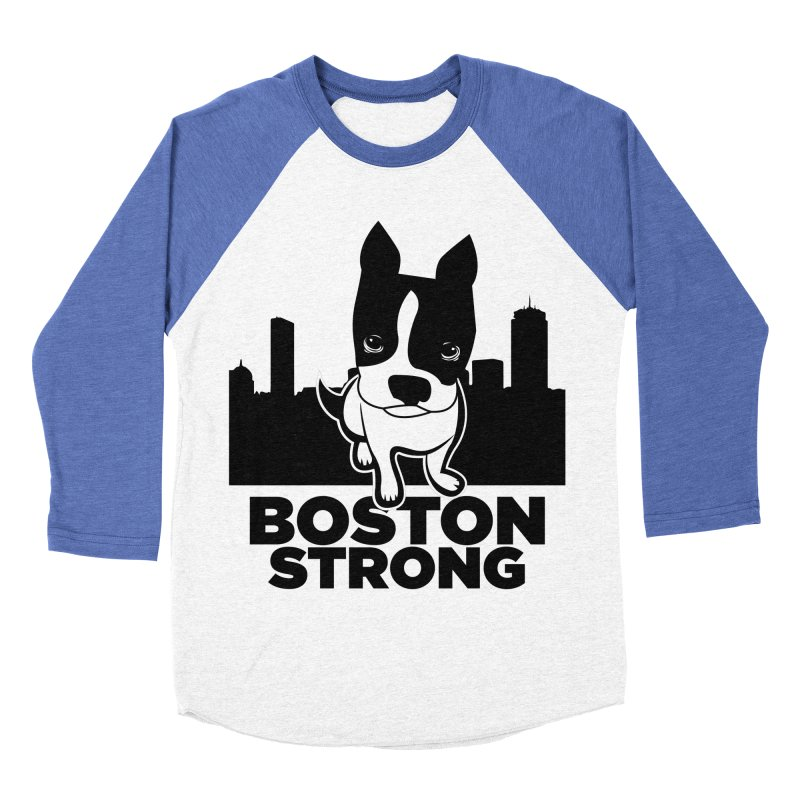 BOSTON (Terrier) STRONG Women's Baseball Triblend Longsleeve T-Shirt by CBHstudio's Artist Shop