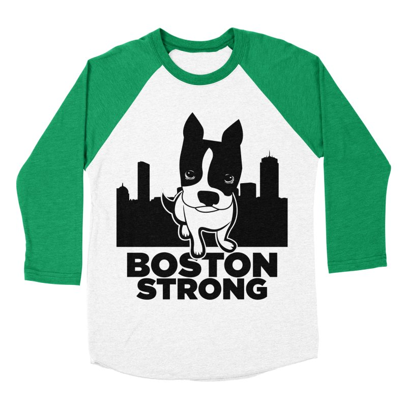 BOSTON (Terrier) STRONG Women's Baseball Triblend T-Shirt by CBHstudio's Artist Shop