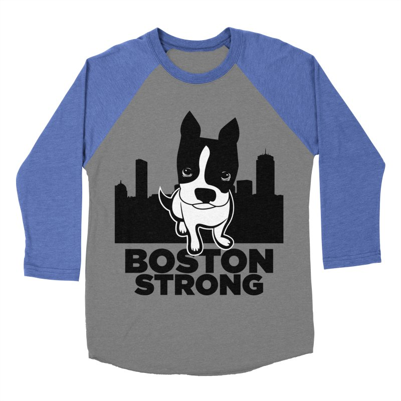 BOSTON (Terrier) STRONG Men's Baseball Triblend T-Shirt by CBHstudio's Artist Shop