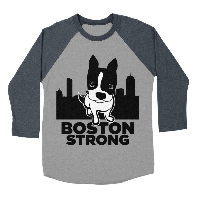 BOSTON (Terrier) STRONG Men's Baseball Triblend Longsleeve T-Shirt by CBHstudio's Artist Shop
