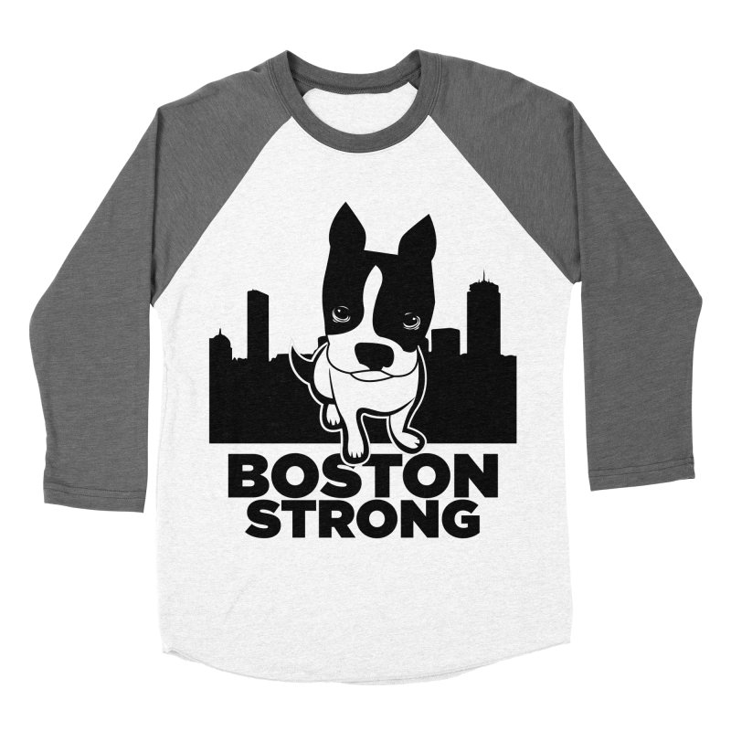 BOSTON (Terrier) STRONG Men's Baseball Triblend Longsleeve T-Shirt by CBHstudio's Artist Shop
