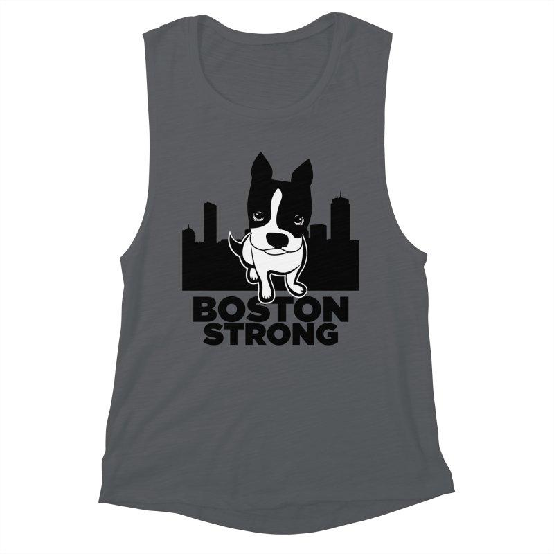 BOSTON (Terrier) STRONG Women's Tank by CBHstudio's Artist Shop