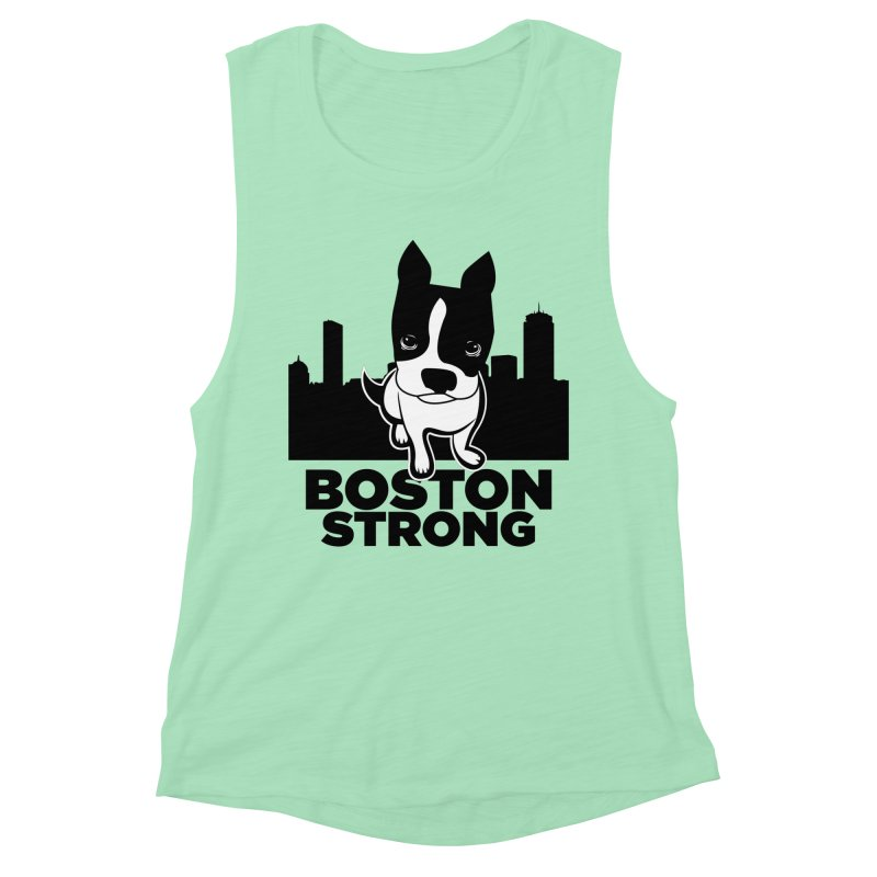 BOSTON (Terrier) STRONG Women's Muscle Tank by CBHstudio's Artist Shop