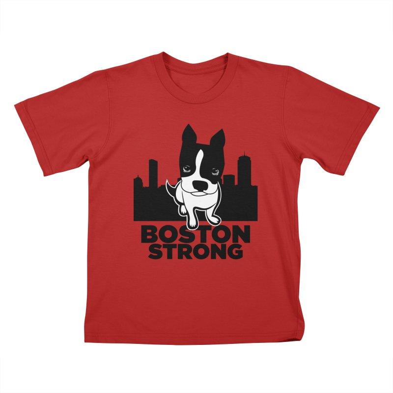 BOSTON (Terrier) STRONG Kids T-shirt by CBHstudio's Artist Shop
