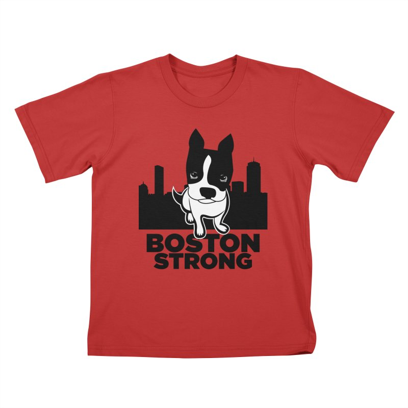 BOSTON (Terrier) STRONG Kids T-Shirt by CBHstudio's Artist Shop