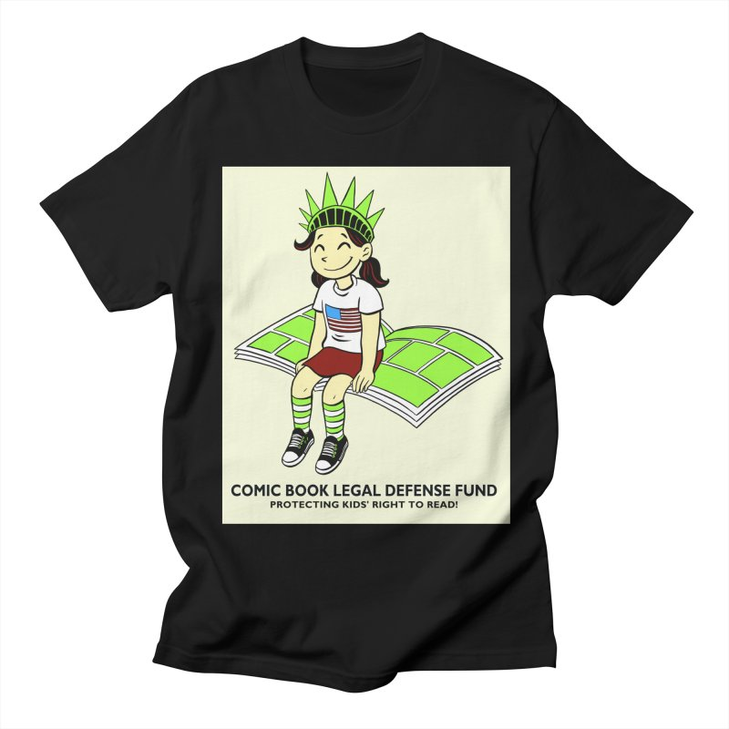 Lil' Libby Men's Regular T-Shirt by COMIC BOOK LEGAL DEFENSE FUND