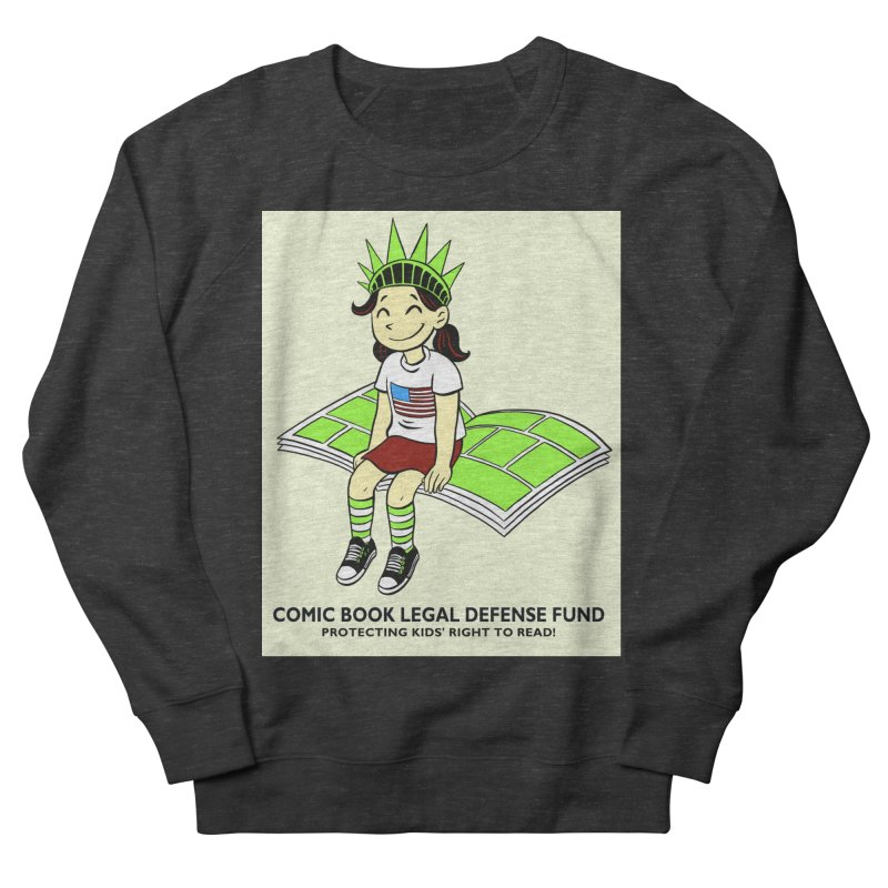 Lil' Libby Men's French Terry Sweatshirt by COMIC BOOK LEGAL DEFENSE FUND