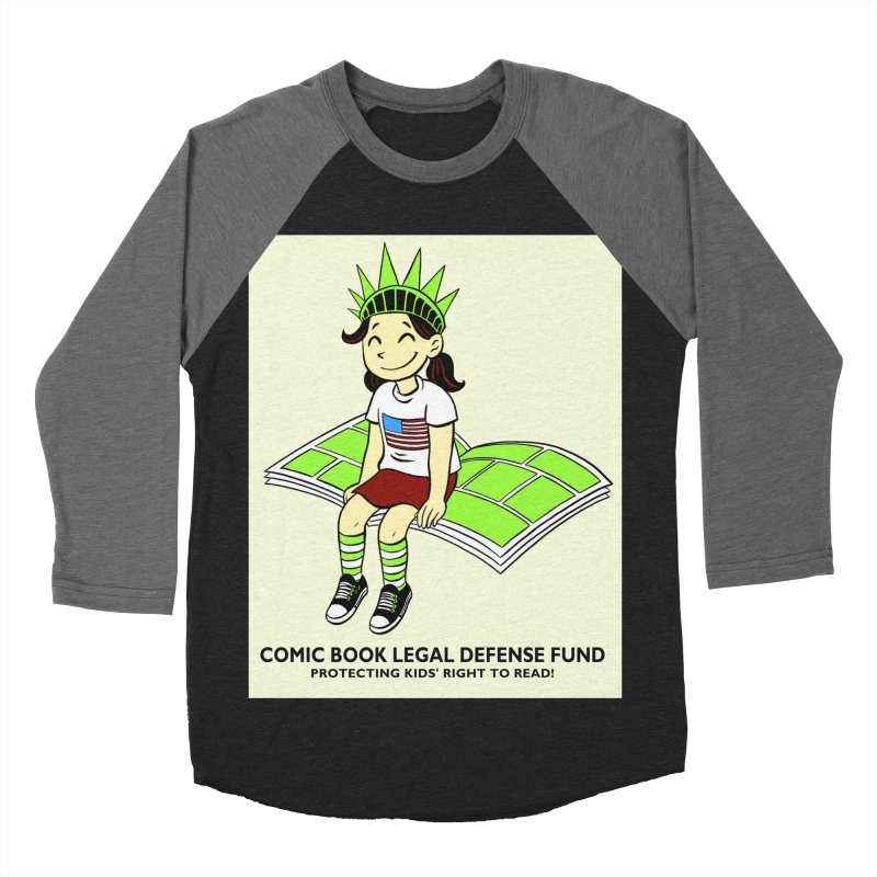 Lil' Libby Women's Baseball Triblend Longsleeve T-Shirt by COMIC BOOK LEGAL DEFENSE FUND