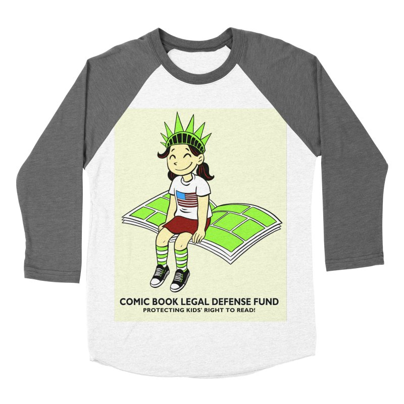 Lil' Libby Men's Baseball Triblend T-Shirt by COMIC BOOK LEGAL DEFENSE FUND