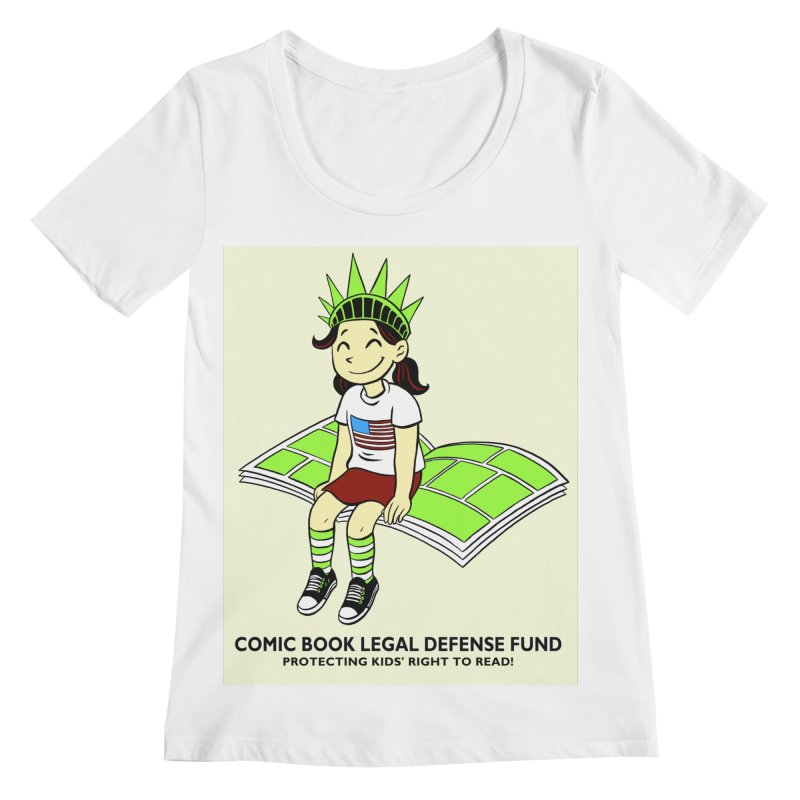 Lil' Libby Women's Scoopneck by COMIC BOOK LEGAL DEFENSE FUND