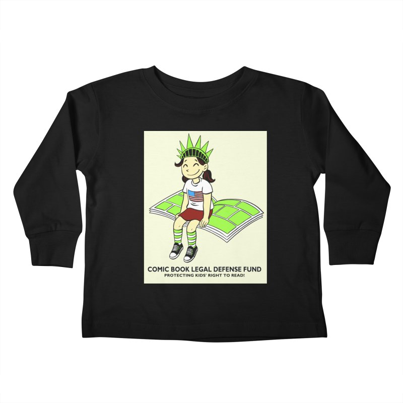 Lil' Libby Kids Toddler Longsleeve T-Shirt by COMIC BOOK LEGAL DEFENSE FUND