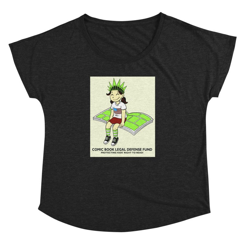 Lil' Libby Women's Dolman Scoop Neck by COMIC BOOK LEGAL DEFENSE FUND