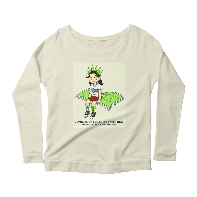 Lil' Libby Women's Scoop Neck Longsleeve T-Shirt by COMIC BOOK LEGAL DEFENSE FUND
