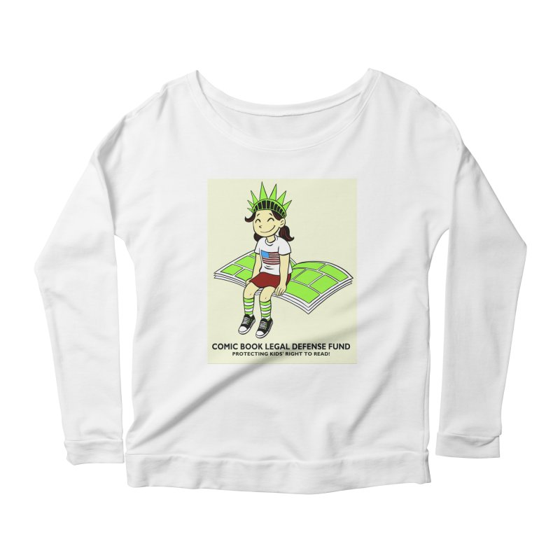 Lil' Libby Women's Longsleeve Scoopneck  by COMIC BOOK LEGAL DEFENSE FUND