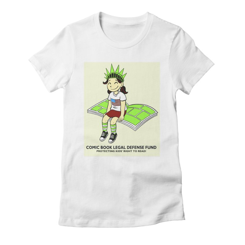 Lil' Libby Women's Fitted T-Shirt by COMIC BOOK LEGAL DEFENSE FUND