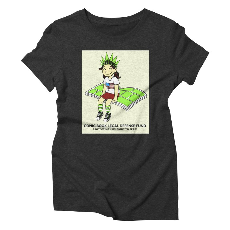 Lil' Libby Women's Triblend T-Shirt by COMIC BOOK LEGAL DEFENSE FUND