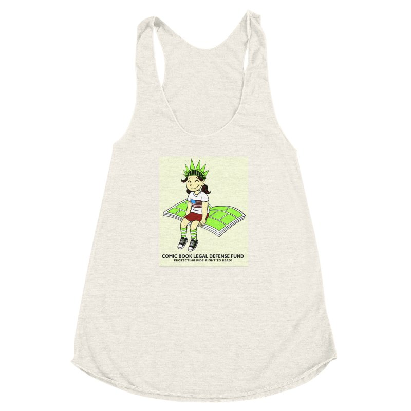 Lil' Libby Women's Racerback Triblend Tank by COMIC BOOK LEGAL DEFENSE FUND