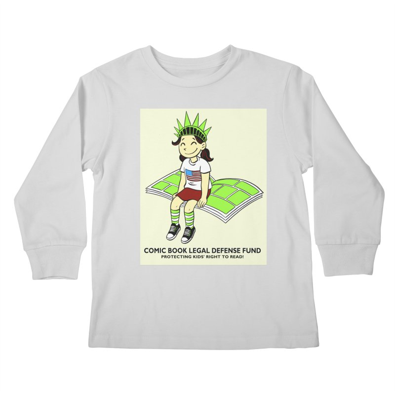 Lil' Libby Kids Longsleeve T-Shirt by COMIC BOOK LEGAL DEFENSE FUND