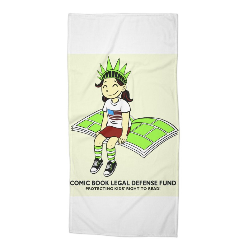 Lil' Libby Accessories Beach Towel by COMIC BOOK LEGAL DEFENSE FUND