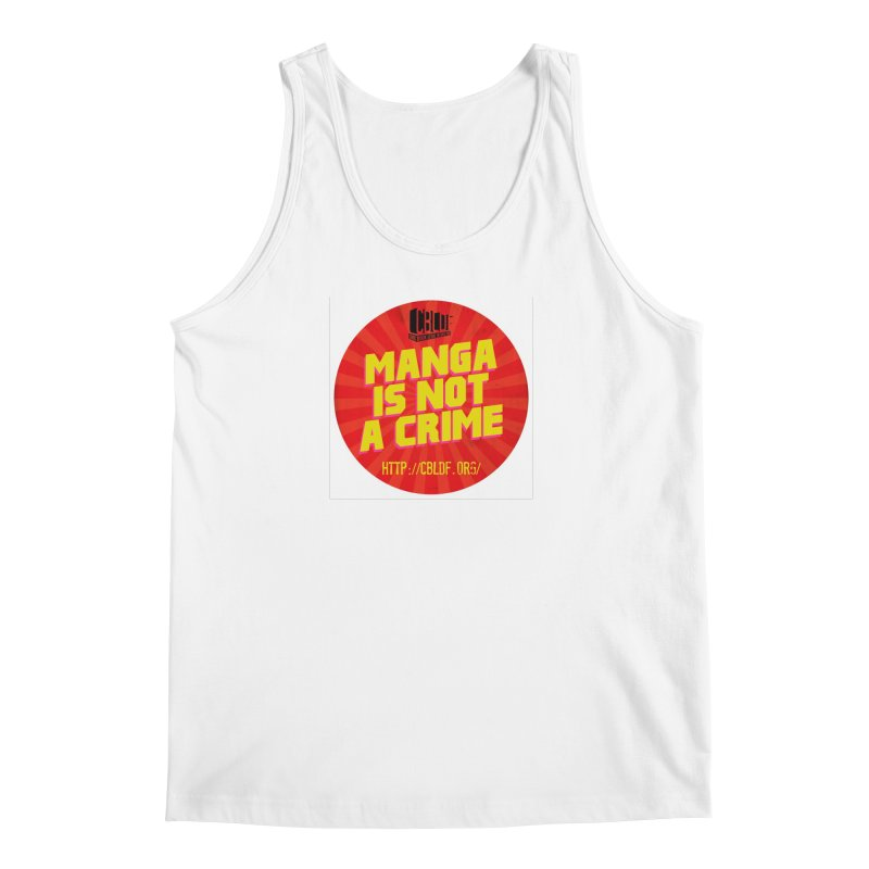 Manga is not a Crime! Men's Regular Tank by COMIC BOOK LEGAL DEFENSE FUND