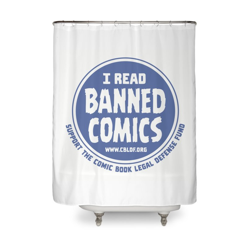 Banned Comics Home Shower Curtain by COMIC BOOK LEGAL DEFENSE FUND