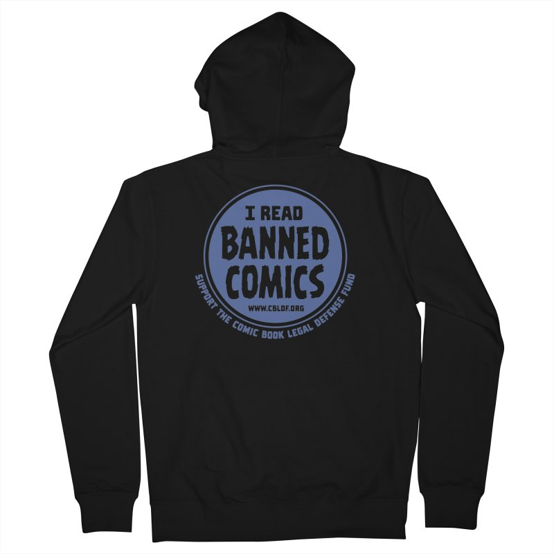 Banned Comics Women's French Terry Zip-Up Hoody by COMIC BOOK LEGAL DEFENSE FUND