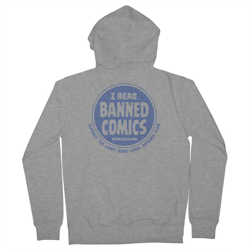 Banned Comics Men's French Terry Zip-Up Hoody by COMIC BOOK LEGAL DEFENSE FUND