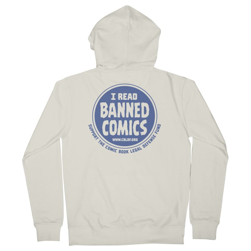 Banned Comics Men's Zip-Up Hoody by COMIC BOOK LEGAL DEFENSE FUND