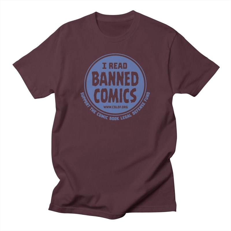 Banned Comics Men's T-shirt by COMIC BOOK LEGAL DEFENSE FUND