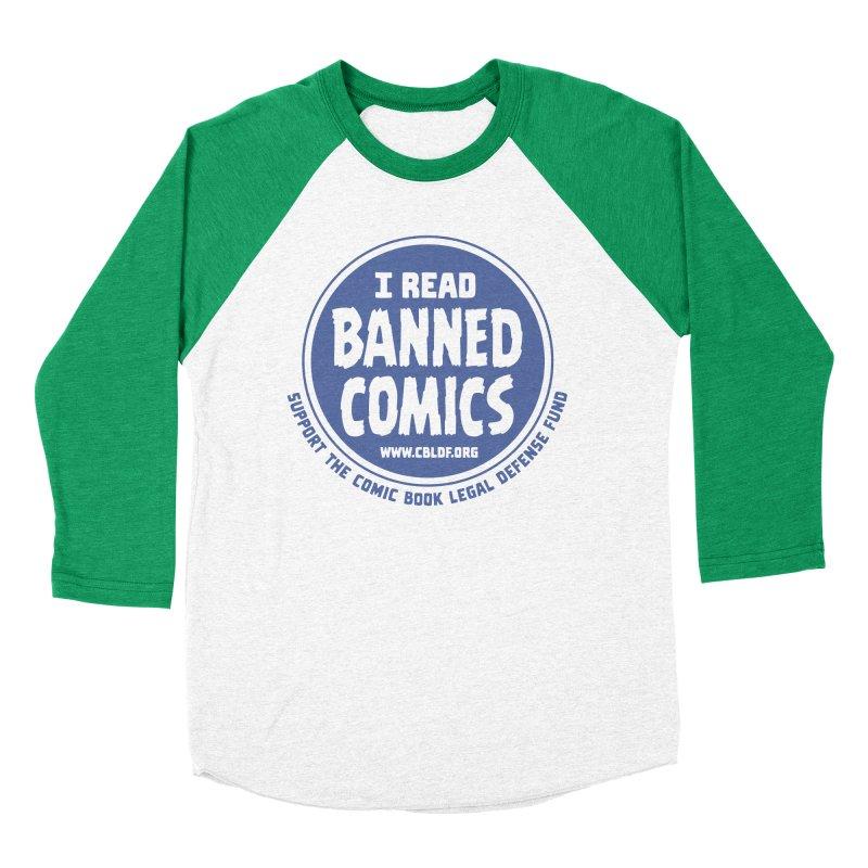 Banned Comics Women's Baseball Triblend T-Shirt by COMIC BOOK LEGAL DEFENSE FUND