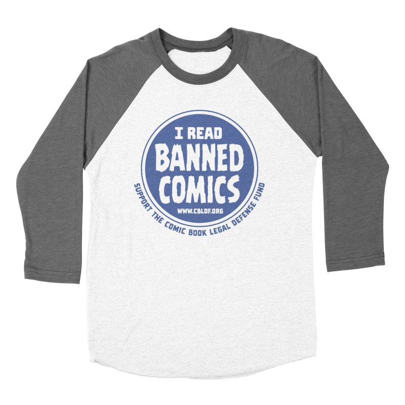 Banned Comics Men's Baseball Triblend Longsleeve T-Shirt by COMIC BOOK LEGAL DEFENSE FUND