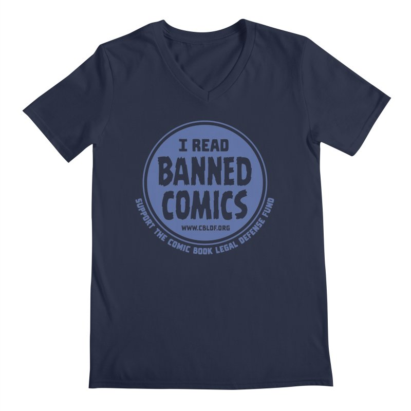 Banned Comics Men's V-Neck by COMIC BOOK LEGAL DEFENSE FUND