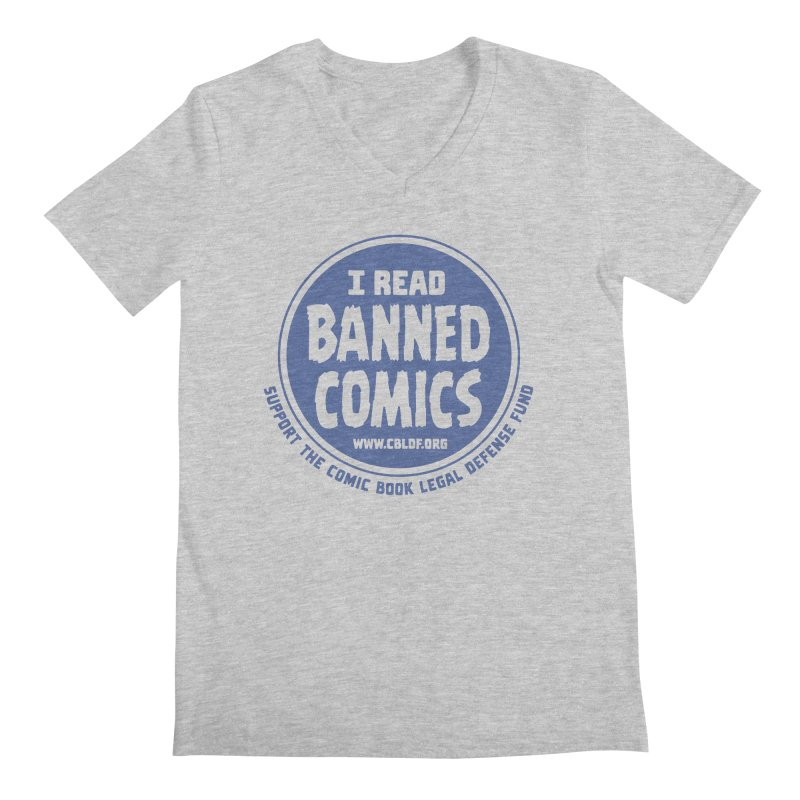 Banned Comics Men's Regular V-Neck by COMIC BOOK LEGAL DEFENSE FUND