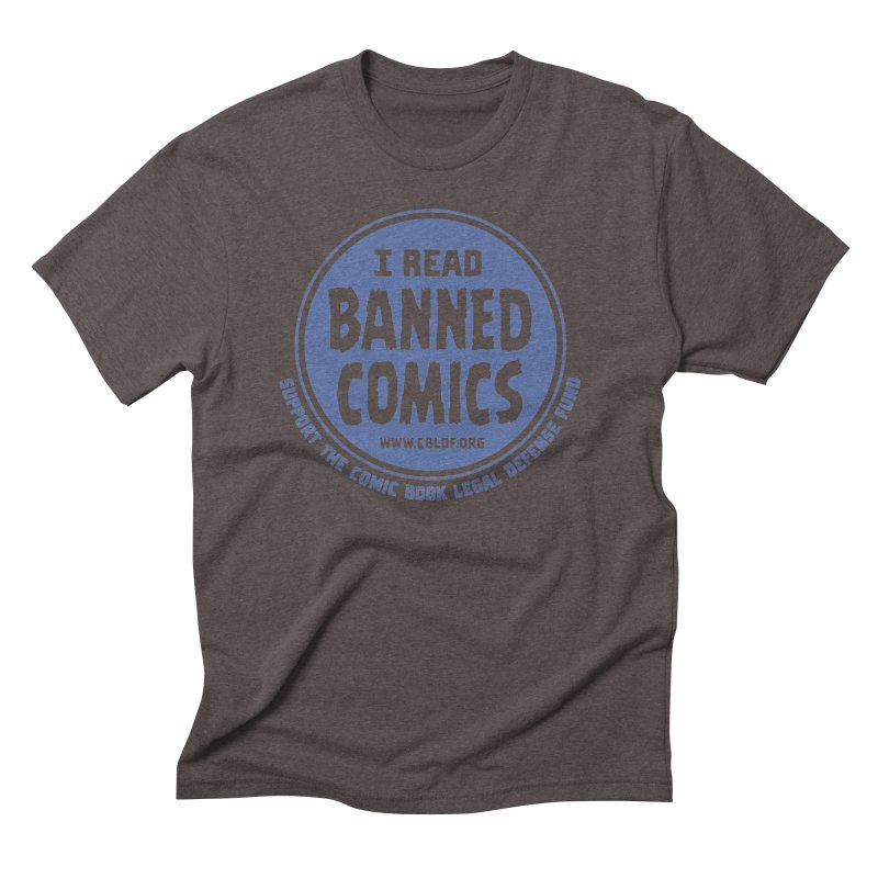 Banned Comics Men's Triblend T-shirt by COMIC BOOK LEGAL DEFENSE FUND