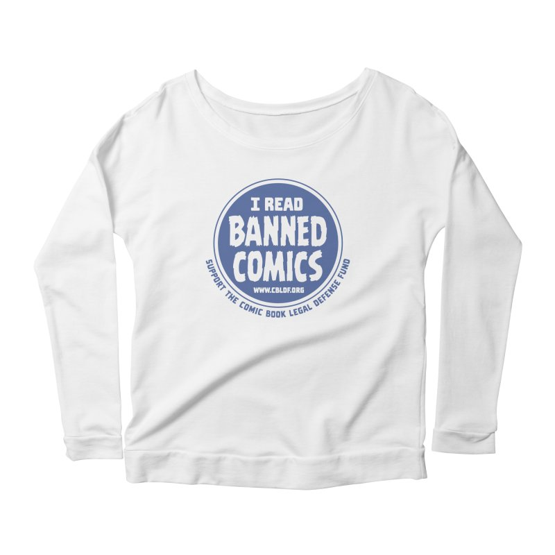 Banned Comics Women's Scoop Neck Longsleeve T-Shirt by COMIC BOOK LEGAL DEFENSE FUND