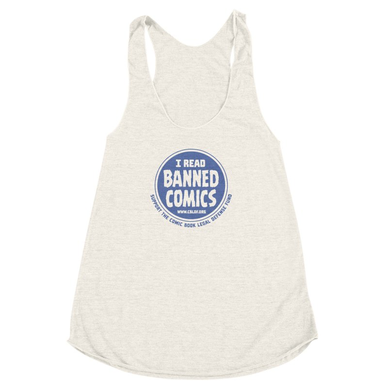 Banned Comics Women's Racerback Triblend Tank by COMIC BOOK LEGAL DEFENSE FUND