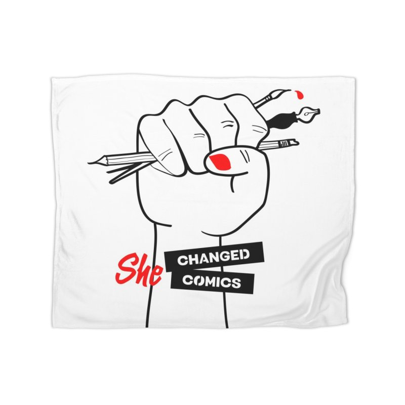 She Changed Comics Home Fleece Blanket Blanket by COMIC BOOK LEGAL DEFENSE FUND