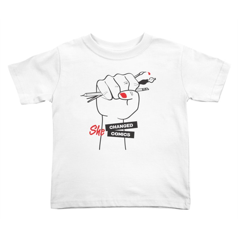 She Changed Comics Kids Toddler T-Shirt by COMIC BOOK LEGAL DEFENSE FUND
