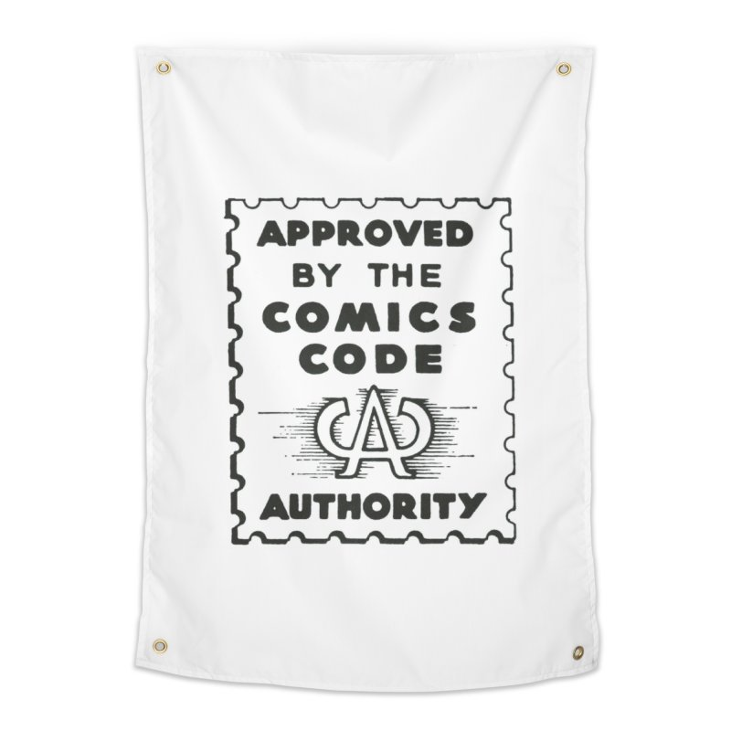 Comics Code Home Tapestry by COMIC BOOK LEGAL DEFENSE FUND