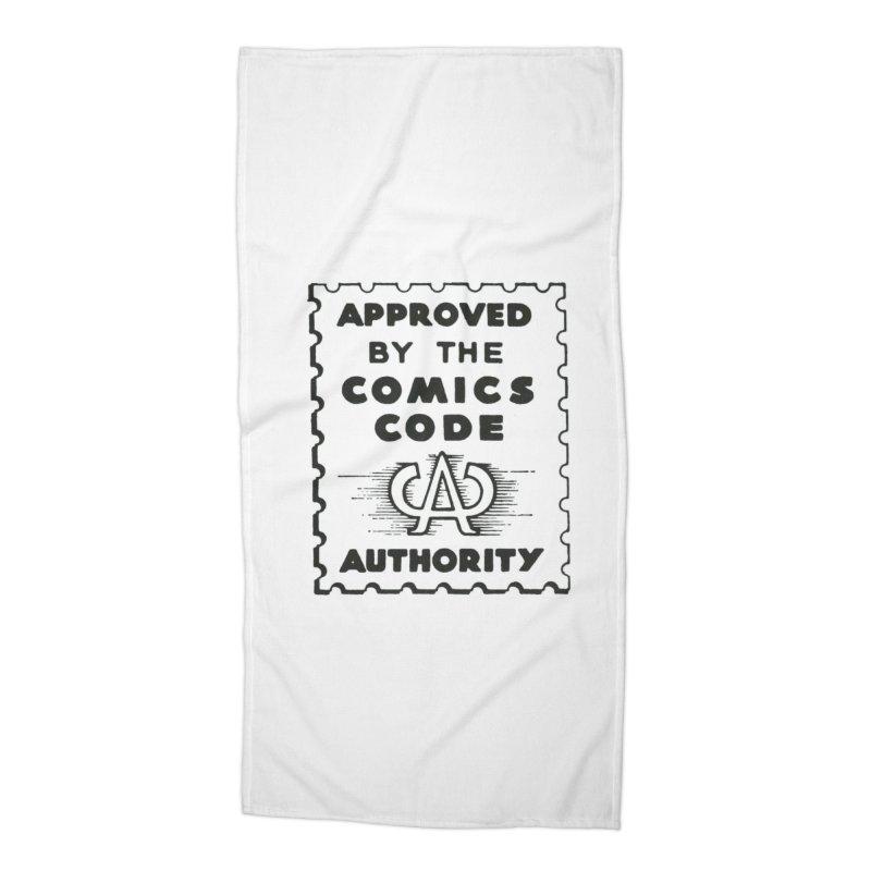 Comics Code Accessories Beach Towel by COMIC BOOK LEGAL DEFENSE FUND