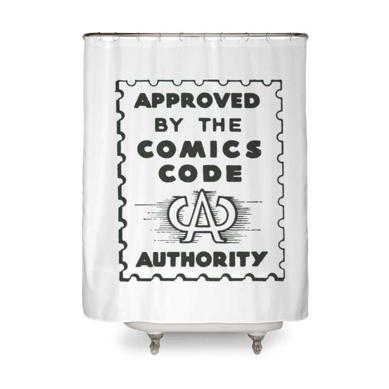 Comics Code Home Shower Curtain by COMIC BOOK LEGAL DEFENSE FUND