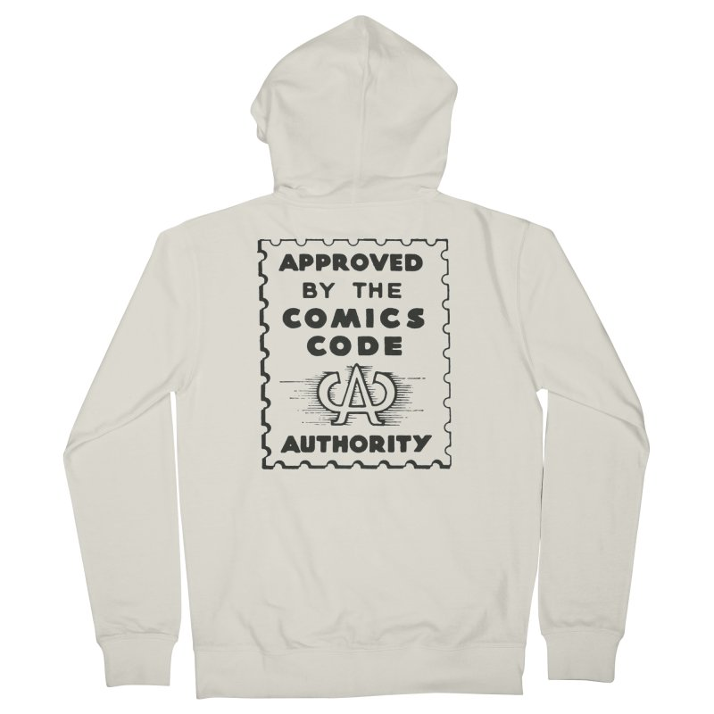 Comics Code Men's French Terry Zip-Up Hoody by COMIC BOOK LEGAL DEFENSE FUND