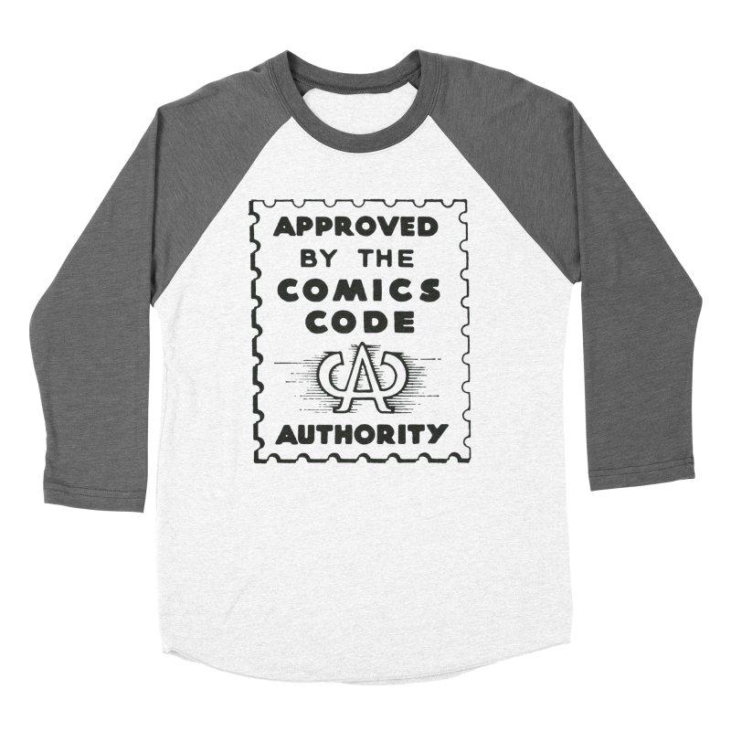 Comics Code Women's Baseball Triblend Longsleeve T-Shirt by COMIC BOOK LEGAL DEFENSE FUND