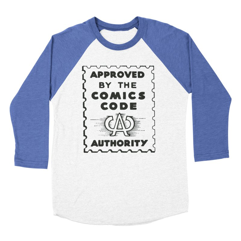 Comics Code Men's Baseball Triblend Longsleeve T-Shirt by COMIC BOOK LEGAL DEFENSE FUND