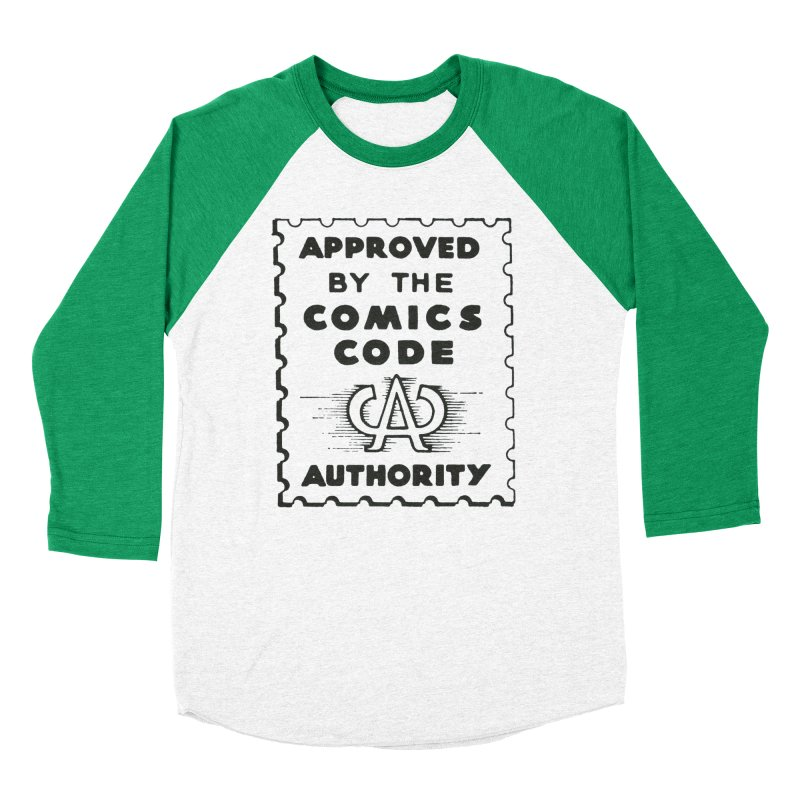 Comics Code Men's Baseball Triblend Longsleeve T-Shirt by COMIC BOOK LEGAL DEFENSE FUND